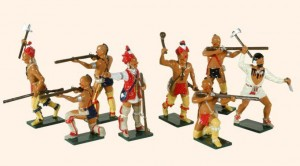 609 Toy Soldiers Set American Woodland Indians