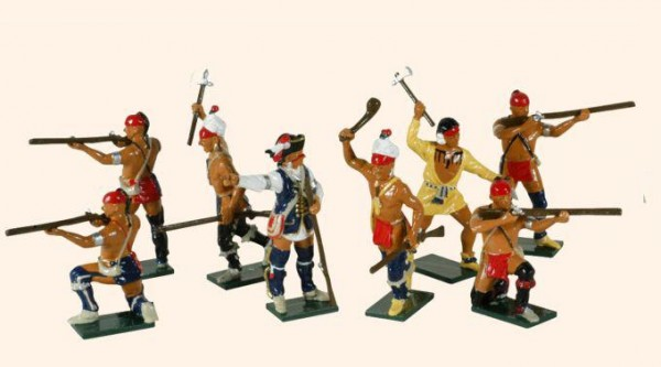610 Toy Soldiers Set American Woodland Indians
