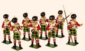 738 Toy Soldiers Set 92nd Gordon Highlanders