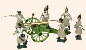 116 Toy Soldiers Set Russian Artillery