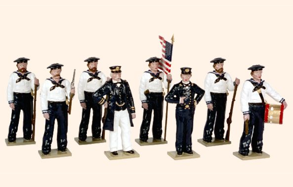908 Toy Soldiers Set The Union Navies