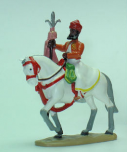 40179 The silver trident banner of jaipur