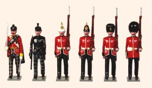 Trad 3 Scottish Regiments 1895