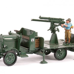BRITAINS 8926 PREMIER WW1 THORNYCROFT AA TRUCK + TOY SOLDIER SERVICE DETACHMENT